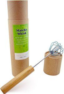 Coastal-Tea-Company-Matcha-Whisk-Modern-Chasen-for-Tea-Powder-Bamboo-Whisk-Push-Handle-Rotating-Mixer-Not-Dishwasher-Safe  Stainless steel rod and whisk wires coated with non-stick silicone, internal parts are NOT SAFE DISHWASHER SAFE Fast, easy alternative to a bamboo matcha whisk, Japanese chasen, or electric milk frother No mixing with metal on metal, the silicone coated whipping end protects your cups and mugs  http://bestmatchashop.com/product-category/sets-gifts/