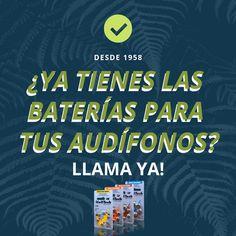 Necesitas pilas para tus audífonos?  Opten el mejor precio en pilas Auditivas en Referencias 10 - 13 - 312 y 675  LLAMA YA!!  PBX: 6110808 o Realice su pedido por WhatsApp: 300 5260573.   soucionesauditivas.biz   #SolucionesAuditivas #DíaDePilas #Audición #FelizDía #MejoramosTuAudición #Soluciones #Pilas #Baterías #ILovePilas #Viernes #FelizViernes #FinDeSemana #Febrero #InicioDeMes #2019 Keep Calm, Artwork, Audio, Happy Friday, Happy Day, February, Work Of Art, Stay Calm, Auguste Rodin Artwork