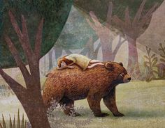 Children's picture book idea: Early one morning, deep within the sleepy forest a bear wanders... Sarah, his best friend and companion, still dreams.