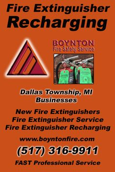 Fire Extinguisher Recharging Dallas Township (517) 316-9911.. Local Michigan Businesses you have found the complete source for Fire Protection. Fire Extnguishers, Fire Extinguisher Service.. We're got you covered..