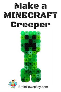 Make a Minecraft Creeper! Part of a series of perler bead patterns for Minecraft lovers.