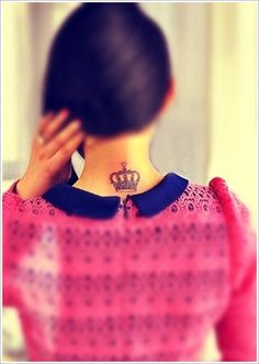 Chic Small Crown Tattoo Design