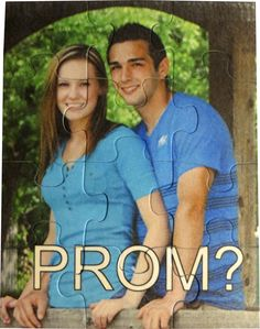 Beautiful way to ask someone to the PROM. Please PIN IT to show your friends this great idea which is becoming very popular. http://www.pictureitonthis.com/product/12-piece-puzzle