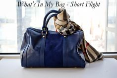 My short flight essentials and go-to bag. http://www.hithaonthego.com/whats-in-my-bag-short-flight/ #travel #packing
