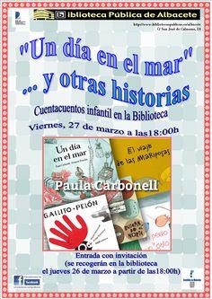 #actividadesbiblioteca Cuentacuentos infantil con Paula Carbonell