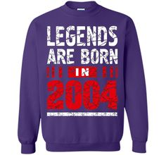Legends Are Born in 2004 T Shirt Official Teenager T-Shirt