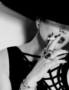 #smoking. #sexyness. # smoly girl, #black and white