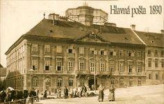Hlavná pošta v roku 1890 Bratislava, Arch, Louvre, Retro, Building, Photography, Travel, Pictures, History