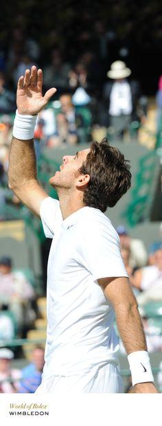 Juan Martin Del Potro at Wimbledon. #RolexOfficial