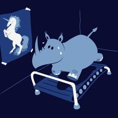 Aww...poor rhino, such high aspirations. TC
