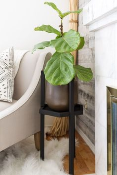 Easy DIY for making a plant stand. Requires a handful of simple tools and finished quickly! Great for displaying your favorite plants.