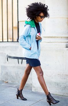 Tip of the Day: What to Pair With Your Windbreaker via @WhoWhatWear