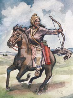 Scythian tribeswoman by residentsmooth on DeviantArt