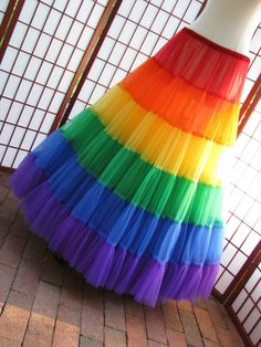 Petticoat Rainbow Floor Length Size Small Custom by DawnsAtelier