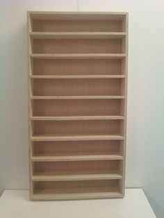1/24 & 1/25 Diecast And Model Car Display Case Shelf. Will Hold Up To 18 Cars