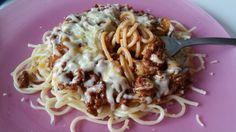 #Spagetti #Filipino #style #delmonte #sweet #spagetti #sauce #granated #cheese