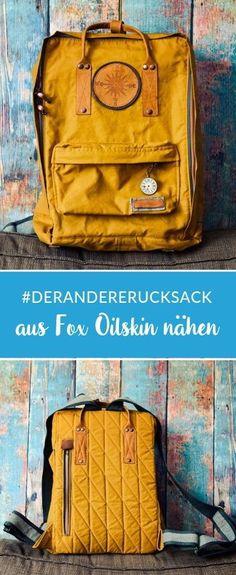 """The other backpack"" from Oilskin by Sigi * Showroom *- ""Der andere Rucksack"" aus Oilskin von Sigi *Showroom* Dry oilskin backpack sewing with matching material list - Diy Backpack, Backpack Straps, Canvas Backpack, Rucksack Backpack, Pretty Backpacks, Top Backpacks, Maquillaje Diy, Couture Vintage, Best Diaper Bag"