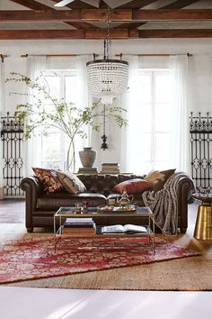 This living room? Just plop it into my house please. Add Jewel Tones to Your Home with Pottery Barn's Latest Collaboration