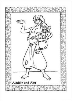 Aladdin And Abu  Coloring page