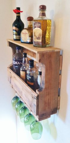 Extra Wide Harbor Cove Rustic Wine Rack by GreatLakesReclaimed