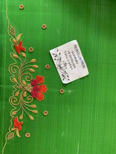 Discover thousands of images about Sudhasri hemaswardrobe Zardosi Embroidery, Hand Embroidery Dress, Hand Embroidery Videos, Flower Embroidery Designs, Simple Embroidery, Rose Embroidery, Flower Designs, Best Blouse Designs, Bridal Blouse Designs