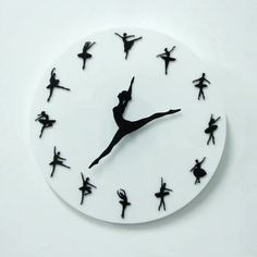 Ballerina Clock Ballerina Clock,Fotka The Ballerina Clock makes the perfect gift for yourself or anyone who loves ballet or dancing! Watch as the ballerina's legs dance around the clock. The ballerina's legs represent the. Ballet Moves, Ballet Dancers, Ballerina Wallpaper, Dance Wallpaper, Ideias Diy, Christmas Drawing, Dance Photography, Dance Music, Room Decor