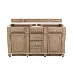 "James Martin Vanities 157-V60D-CWH Cottage White Bristol 60"" Double Free Standing Wood Vanity Cabinet Only - Less Vanity Top Bathroom Vanity Base, Wood Vanity, Vanity Cabinet, Vanity Set, Master Bathroom, Quartz Vanity Tops, Marble Vanity Tops, James Martin Vanity, Cleaning Cabinets"