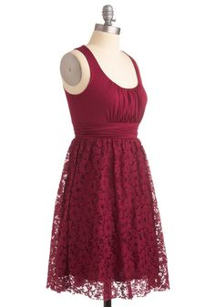 Artisan Iced Tea Dress in Raspberry | Mod Retro Vintage Dresses | ModCloth.com