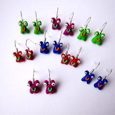Little Monsters Fimo Earrings