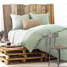 Sea Foam Green/ Linen Bedding