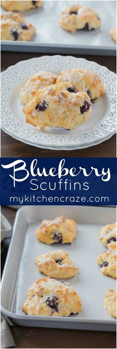 Blueberry Scuffins ~ mykitchencraze .com ~ They're not scones or muffins, but…