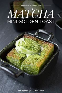 Mini Matcha (Green Tea) Golden Toast Recipe