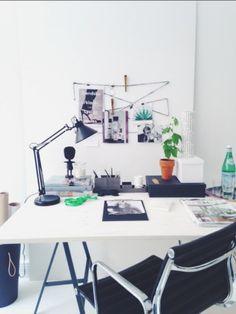 hannasroom.com Hanna Wessman Future Office, Office Desk, Interiors, Studio, House Styles, Diy, Inspiration, Furniture, Home Decor