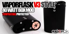 This version of the Vapor Flask Style Box Mod has DNA 40 style temperature control/protection! Style Box, Vape Shop, Vape Juice, Electronic Cigarette, Vaping, Flask, Good Things, Vaping Mods, Electronic Cigarettes
