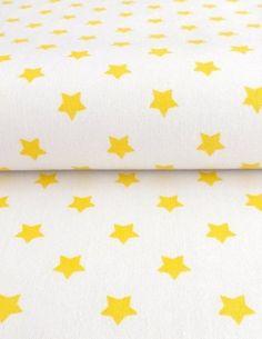 Hvězdy - Bavlněné plátno - žlutá - 100% bavlna