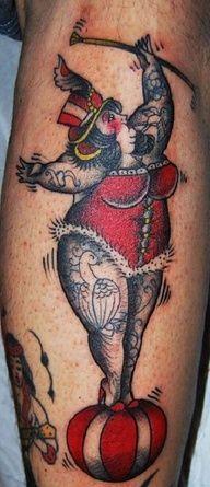 ... circus tattoo flash tattoo inspiration body art tattoo skin tattoo