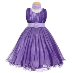 Purple/Lilac Tulles Jewels Pleated Gown