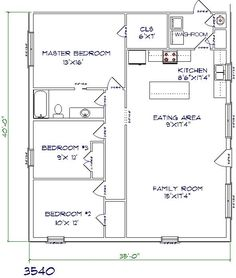 Building plans for 30x40 pole barnhouse joy studio for 30x40 floor plan