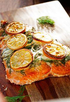 Fresh fillet of salm