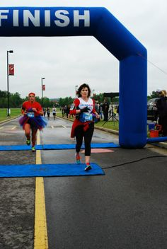 Michelle Bratton, RA sufferer and arthritis athlete, finished a local race to raise awareness for arthritis awareness! http://www.curearthritis.org/michelle-bratton/
