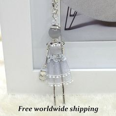 Cute Doll Necklace Long Pendant Necklace Cute by VanyaBijou