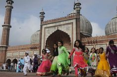 Children at Grand Mosque of Delhi following Ramadhan's Eid Prayers