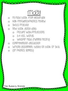 The Bubbly Blonde: Guided Reading
