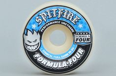 Spitfire 54mm 99DU Formula Four Conical Full White Wheels