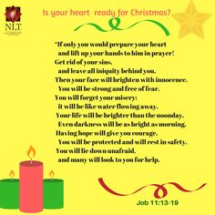 Christmas, truly the most wonderful time of the year - carols, presents,  food, sweets and the most important part, or like they say, the reason for the season - JESUS.  God's Word says that your life will be brighter than the noonday.... Let your life, face and countenance shine this Christmas