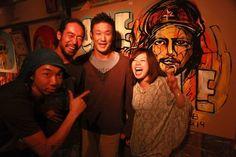 with YAMAZIN,Takeru,Miyo Shimomura @baobab JP photo by Taichi Hashizume