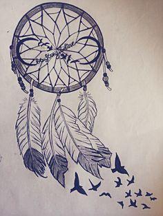 dreamcatcher tattoo drawing 5