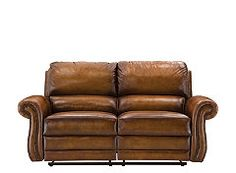 Reese Leather Reclining Loveseat