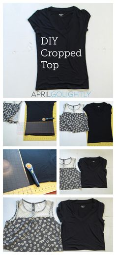 How to Make a Cropped Top very easy with rotary cutter from fashion blogger april golightly