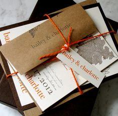 Orange invitation